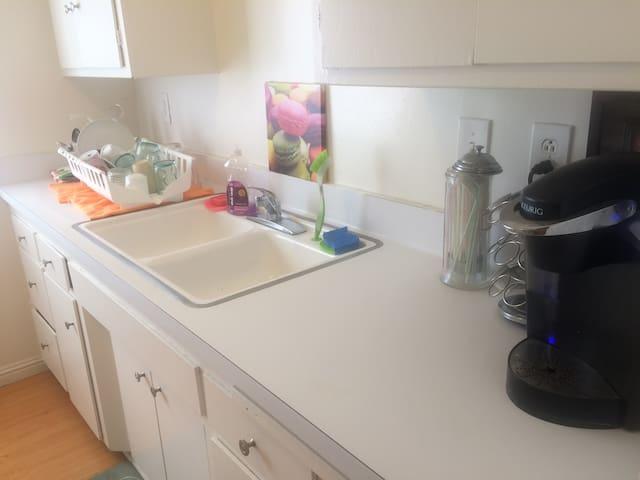 Kitchen with Keurig coffee machine