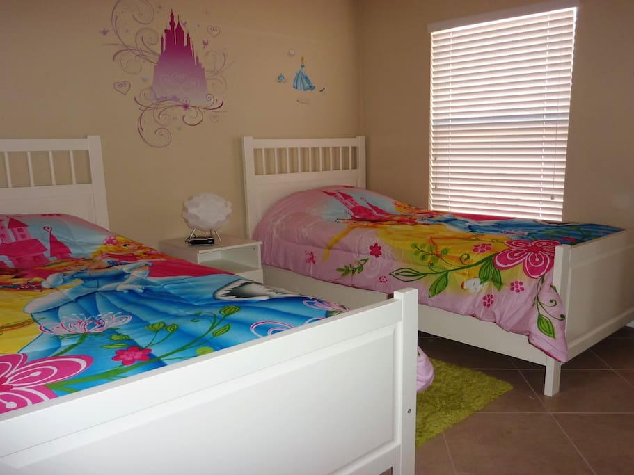 Two twin beds in the princess room