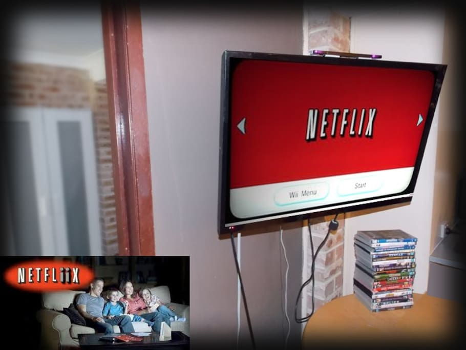 You have Netflix running thru a Wii console, COOL!