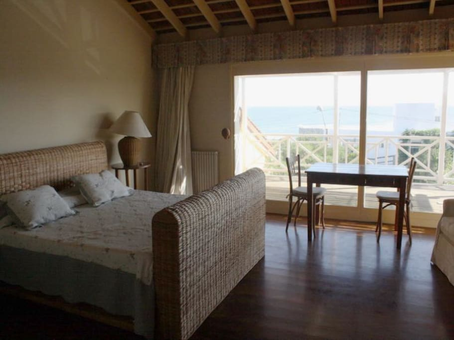 master bedroom with ocean view,