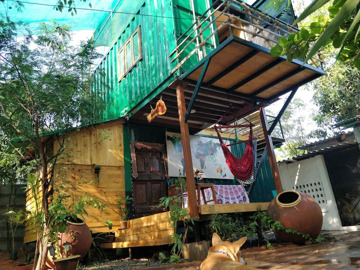 The Green Box TGB.  (Shipping container Home stay)