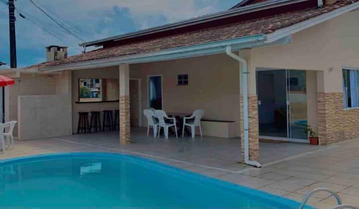 Aconchegante casa com piscina Praia do Paulas. SFS