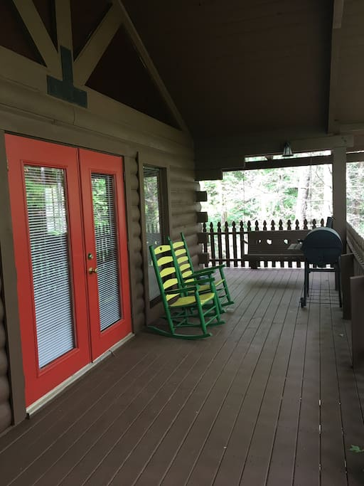 Sit or swing on the deck...