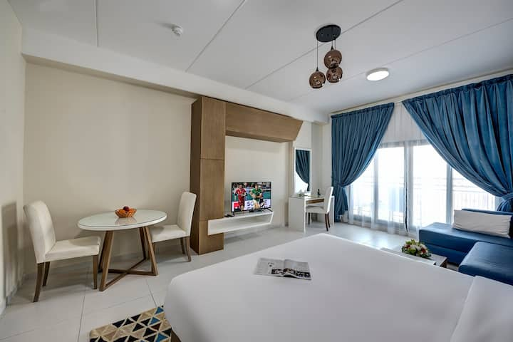 Fully furnished lavish studio with balcony