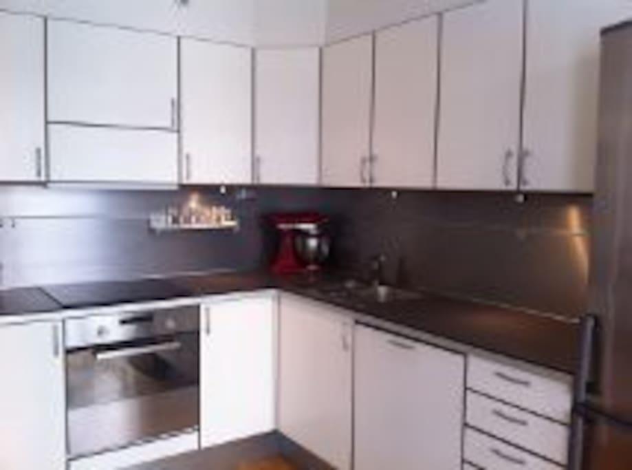 Kjøkken med alt av utstyr.