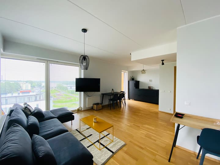 Riverview studio apartment in the heart of Pärnu