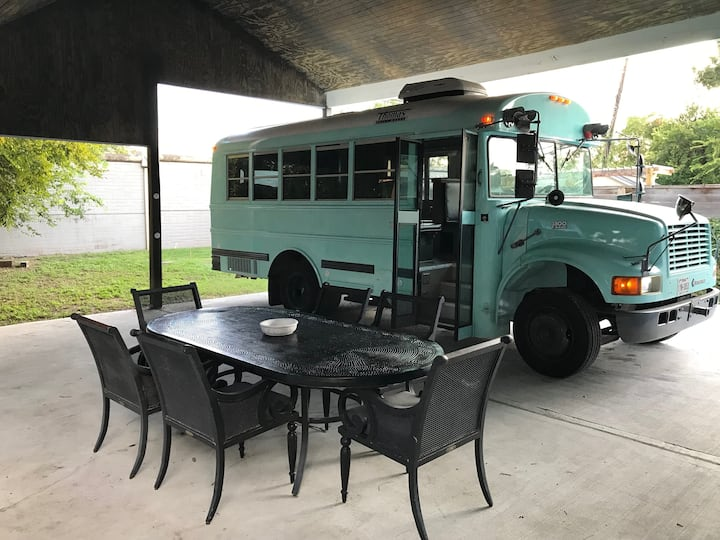 Small Is In! - Converted Short Bus for Rent!