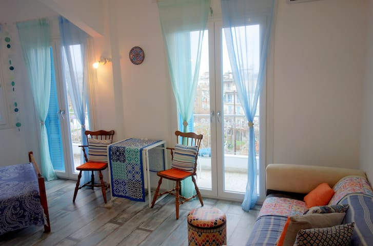 Turquoise Studio with Panoramic View