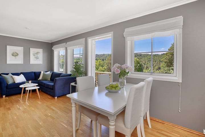 Enjoy this bright apartment 35 min outside of Oslo