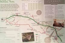 Monsal Trail - great flat walk along the old railway track through tunnels and over viaducts in the stunning Monsal Dale. Join at Bakewell. Hassop Cafe, Monsal Head or Millers Dale