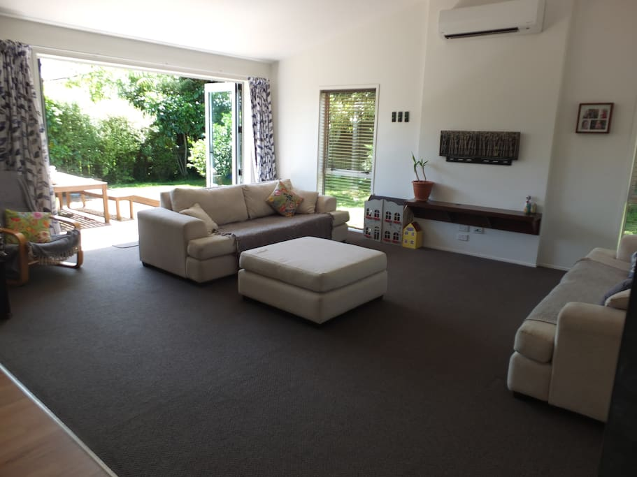 Large Lounge area with great flow to outside dining area