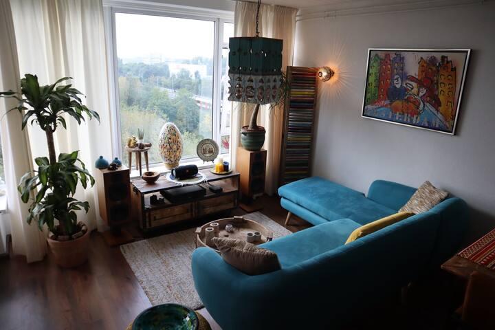 A bright, warm and unique apartment