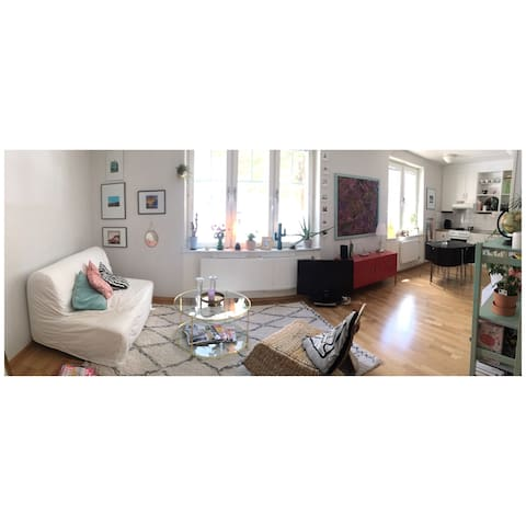 Spacious apartment. 5min train ride to Södermalm