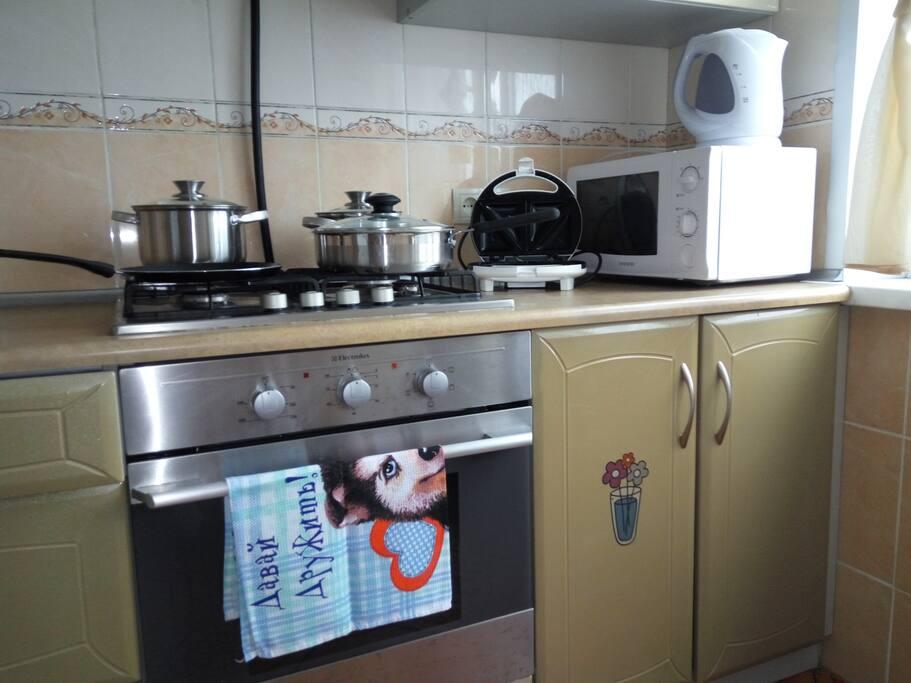 На кухне есть все необходимое.