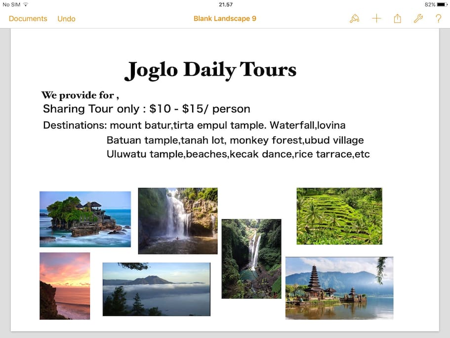 Our daily sharing/private tour