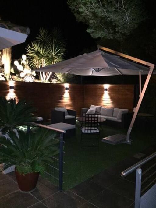 Terrasse/salon de nuit