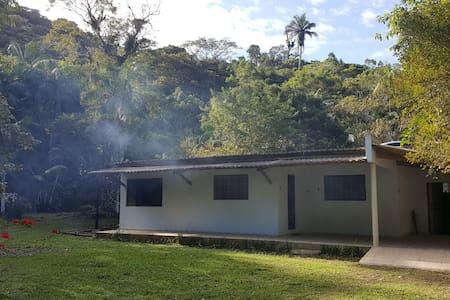 Camp house  with Atlantic Forest.