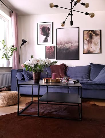 Super cozy flat in beautiful Tyresö. Close to city