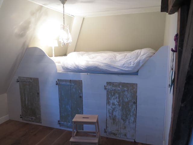 bedroom with double bed on the first floor