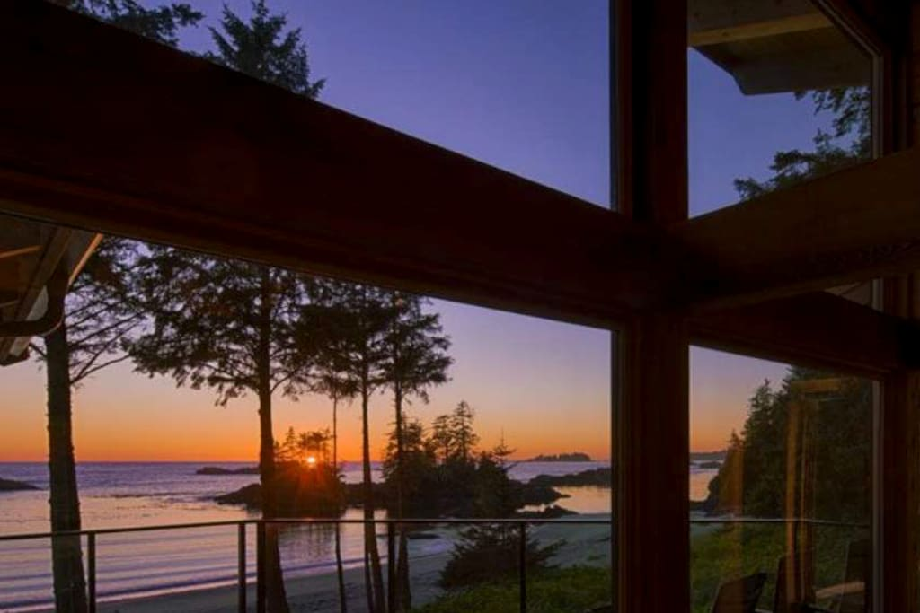 Enjoy beautiful sunsets from this yurt