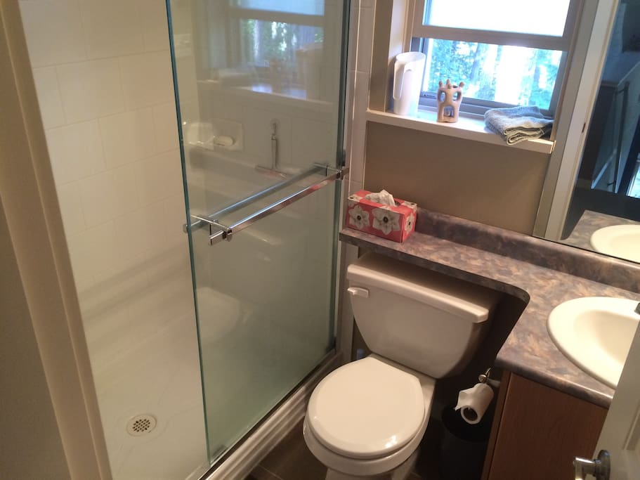 1 of 2 bathrooms.  Large tub in 2nd bathroom