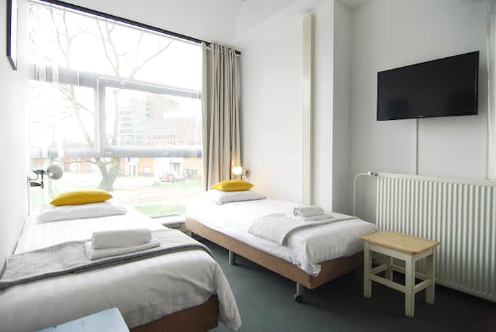 Great stay near Amstel river for two