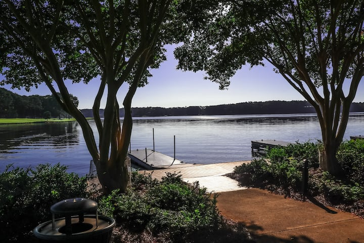 Relax on our large porches with spectacular lakefront views at Westover Cottage