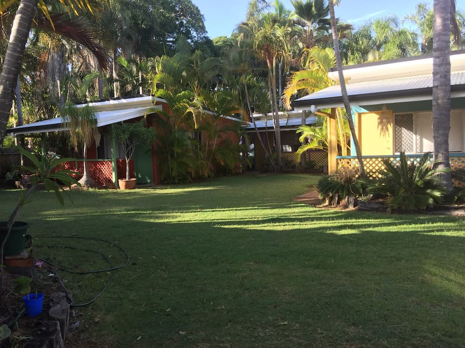 Villas are set in beautiful tropical gardens