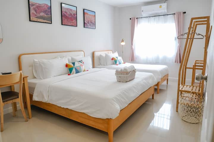 Everyday Home/Lovely & Cozy room for 3/Near Nimman