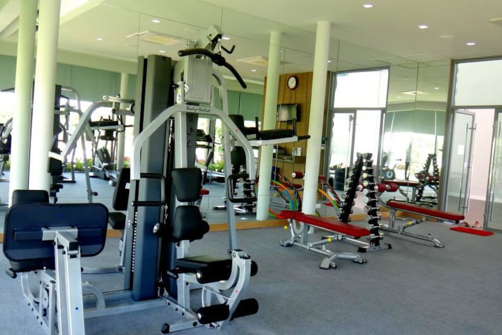 Exercise facilities available from 9 am - 9pm