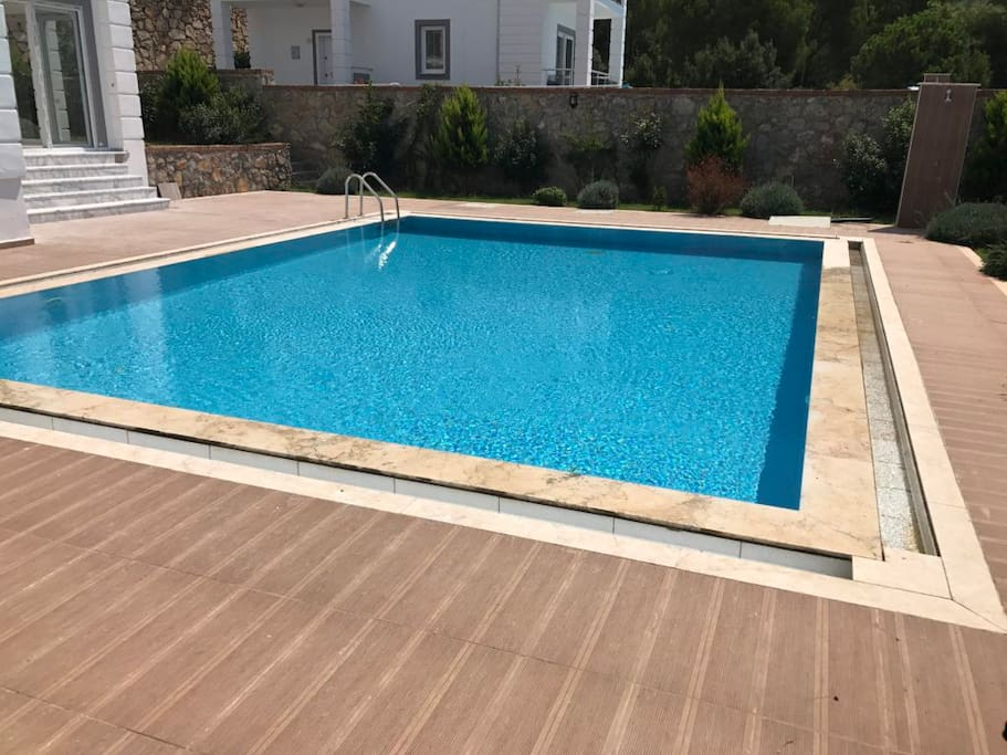 Pool deck. Photo doesn't show sun loungers and umbrellas provided