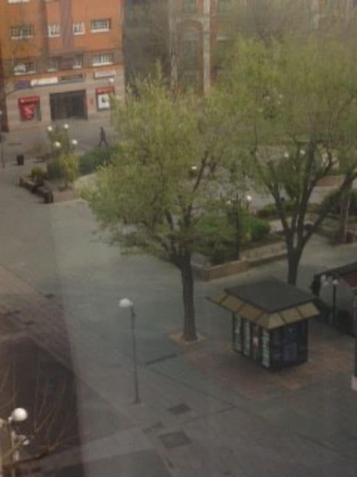 Vistas de la emblemática Plaza del Pilar
