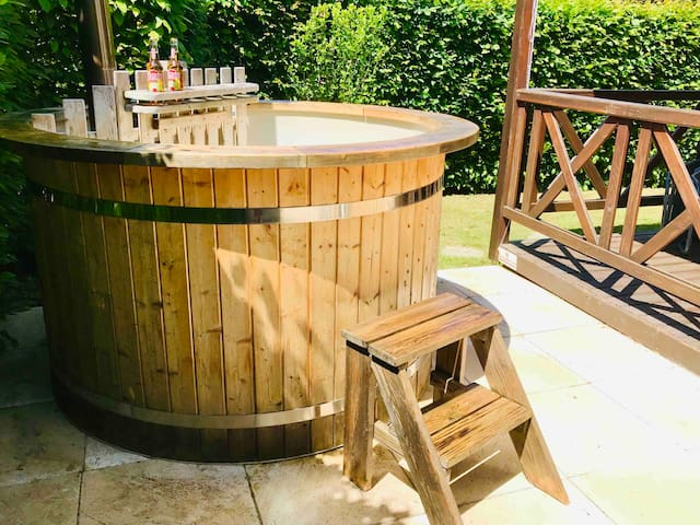 Chalet avec bain nordique et sauna privatifs