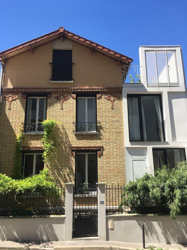 Le charme d'une maison à Paris