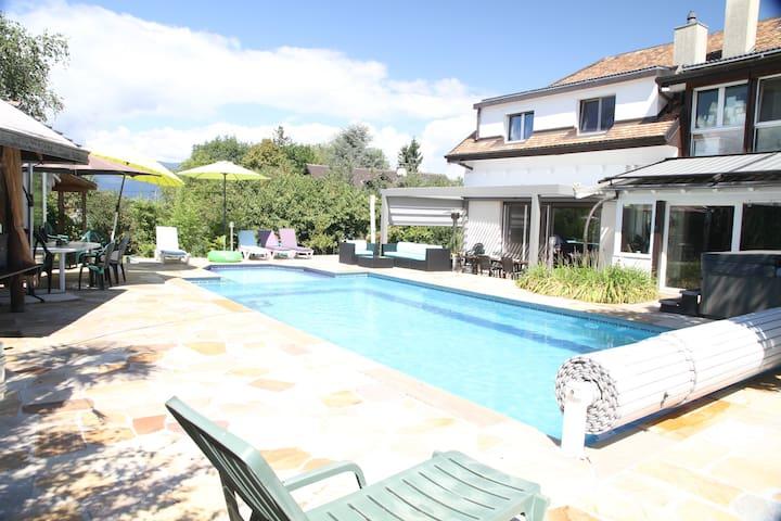 Super appart, piscine à 4 minutes douane de Genève