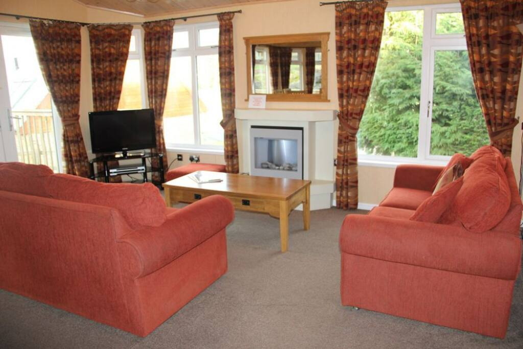 Park Lodge, lounge area, Lakes Cottage Holidays
