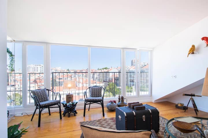 Loft Lusitano with Ample Views - Fast Internet