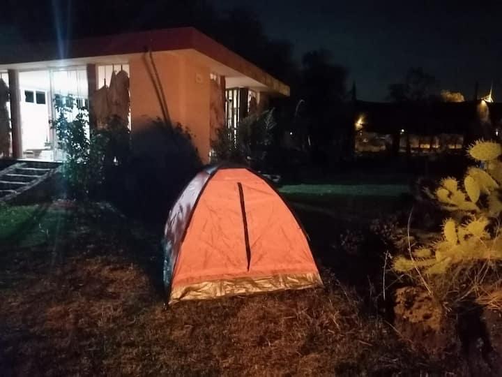 Campamento grupal o familiar. Sierra de Guanajuato