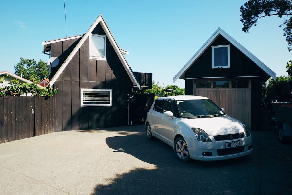 Your Suzuki Automatic car, your own A frame house, plenty of off road parking.