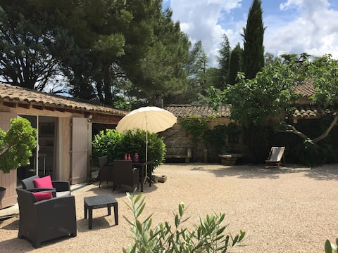 IN THE HEART OF THE CHARMING LUBERON STUDIO - PRIVATE COURTYARD