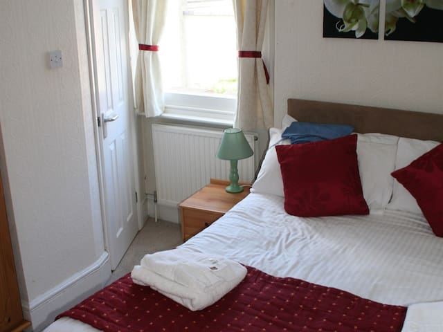 Single room at Yardley Manor Hotel