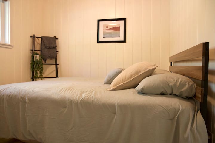 Bedroom #1 has a comfy Queen bed with all new mattress,  linens and pillows.