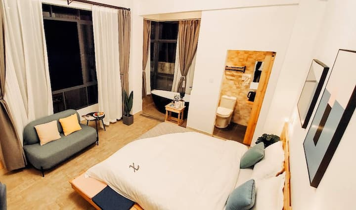 【诉不清的思念】天涯浪漫浴缸大床 两晚接机  近天涯海角、南山寺、西岛景区