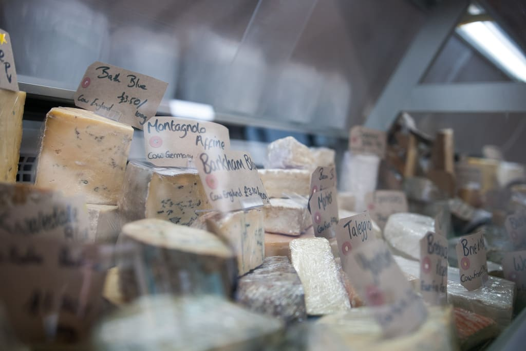 Right down the stairs you will find...Best cheese in York!