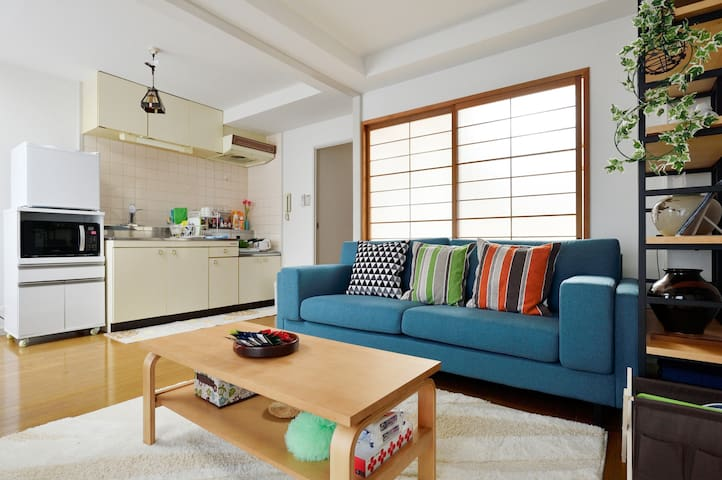 Free Wi-Fi★Cozy living room, bedroom, kitchen! - Toyonaka-shi - Apartamento
