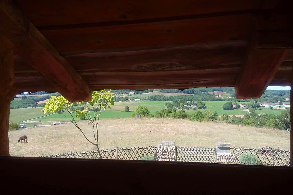 Une des vues depuis la chambre double