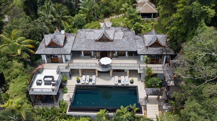 Surin luxury 4 bedroom villa seaview infinity pool