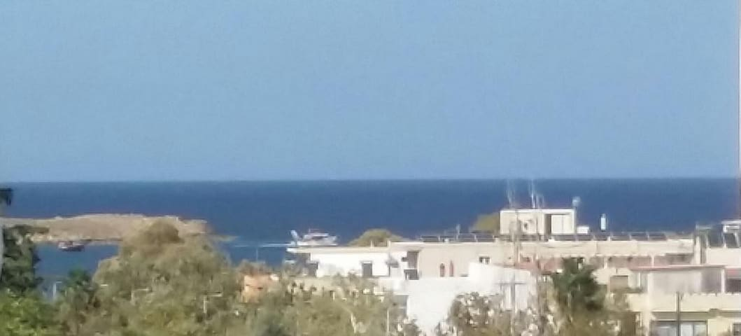 view to the sea from balcony