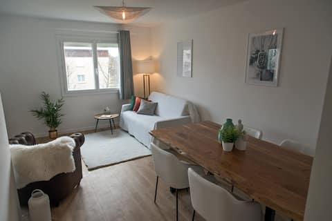 Appartement chaleureux et contemporain de 63 m2