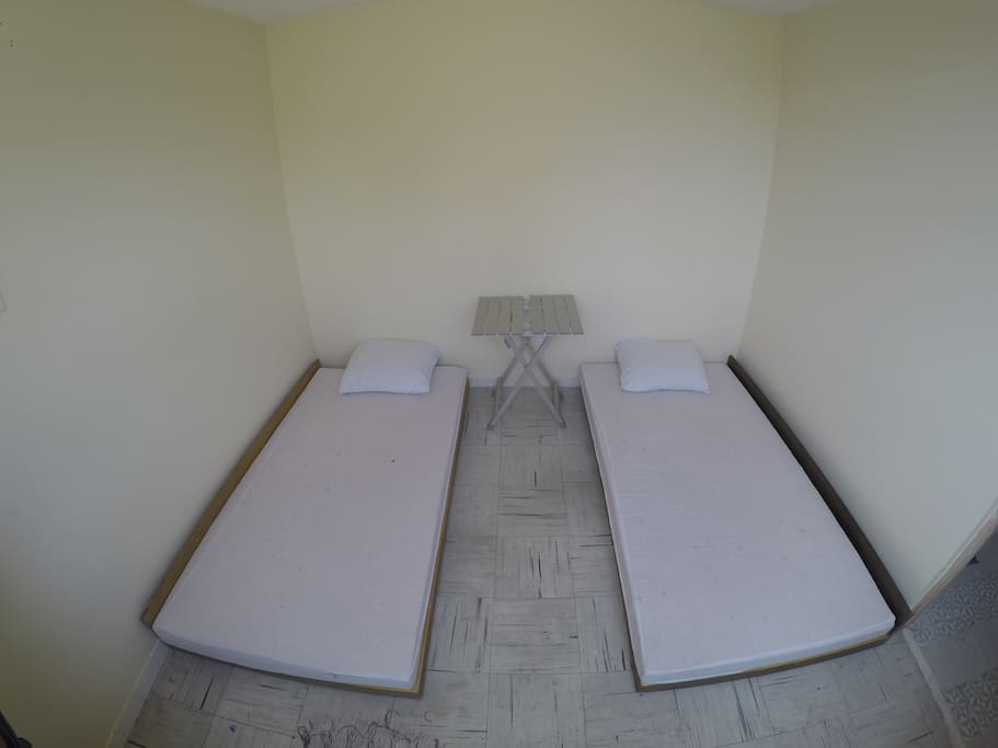 The beds can be put together